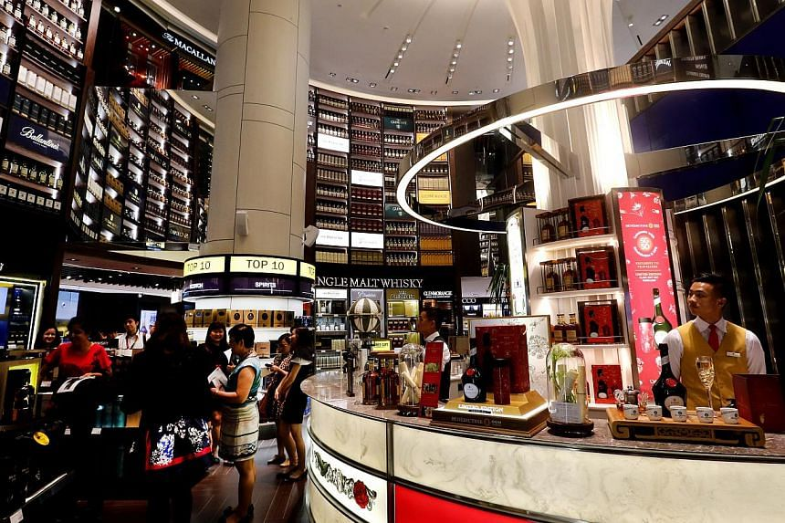 The store will also host visits from master distillers, blenders and brand ambassadors throughout the year, and unveil worldwide product launches for these nine brands. -- ST PHOTO: CHEW SENG KIM