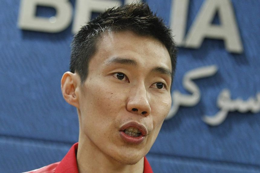 Malaysian badminton player Lee Chong Wei speaking during a press conference in Putrajaya on April 27, 2015. The twice Olympic silver medallist will feature only in the men's team event for next month's SEA Games. -- PHOTO: EPA