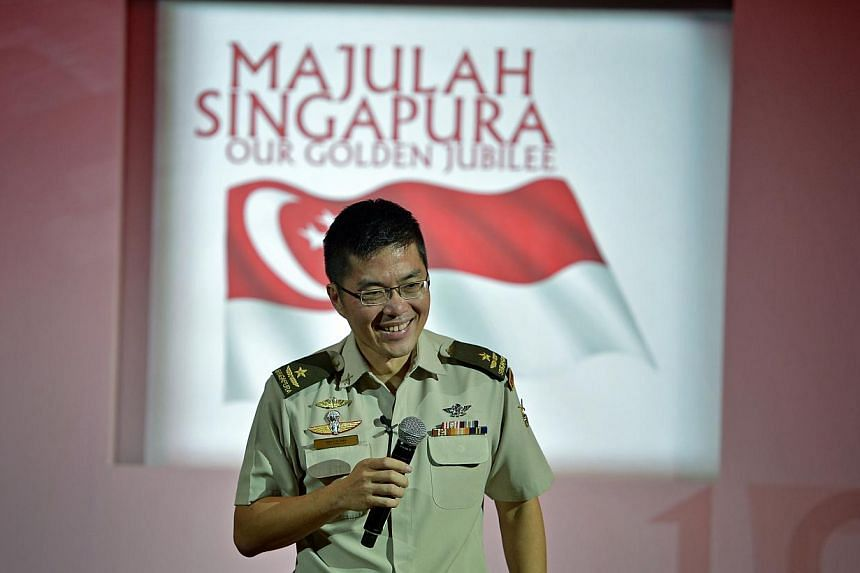 Brigadier-General Melvyn Ong is coordinating this year's show. -- ST PHOTO: KUA CHEE SIONG