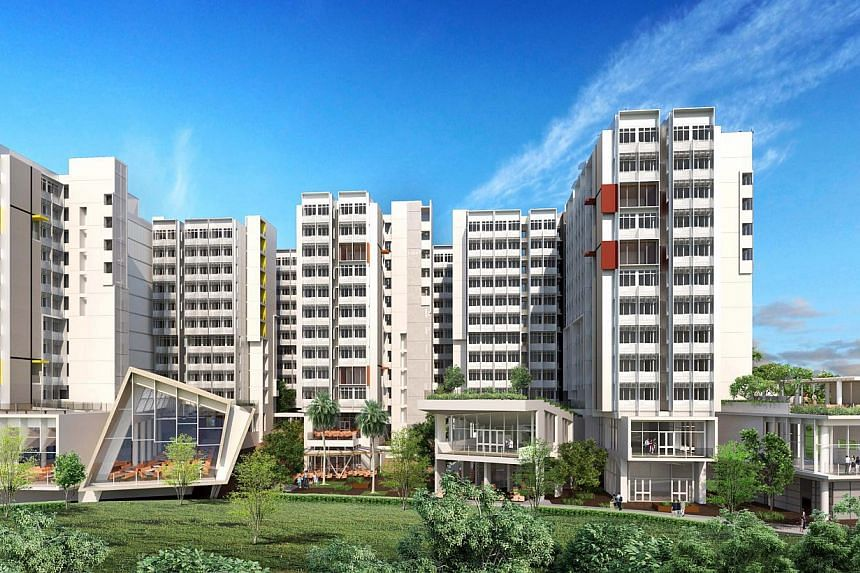 An artist's impression of Nanyang Technological University's North Hill precinct, where entire rooms are built in a factory, complete with fittings, before being assembled on the construction site. Architectural and engineering consultancy P&T Co