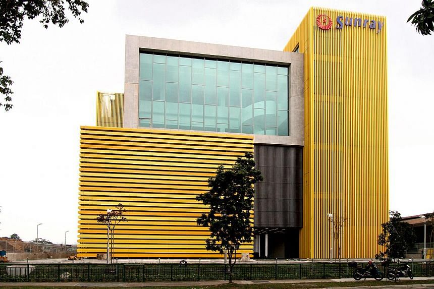 The $30 million complex spans 181,000 sq ft - four times the size of Sunray Woodcraft Construction's old premises at Bukit Batok. -- PHOTO: SUNRAY WOODCRAFT CONSTRUCTION