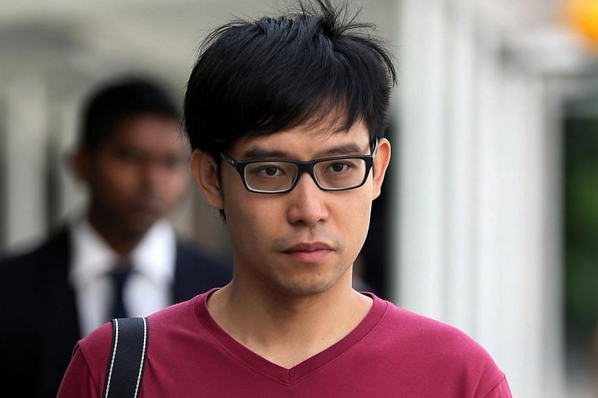Blogger Roy Ngerng arriving at the State Court for Amos Yee's trial on May 7, 2015. -- ST PHOTO: WONG KWAI CHOW