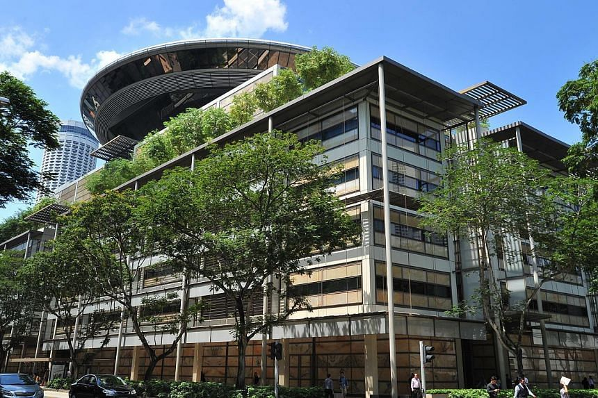 The Supreme Court in Singapore. Sir Henry Bernard Eder will be appointed as an International Judge to the Singapore International Commercial Court on May 7, 2015. -- PHOTO: LIM YAOHUI FOR THE STRAITS TIMES