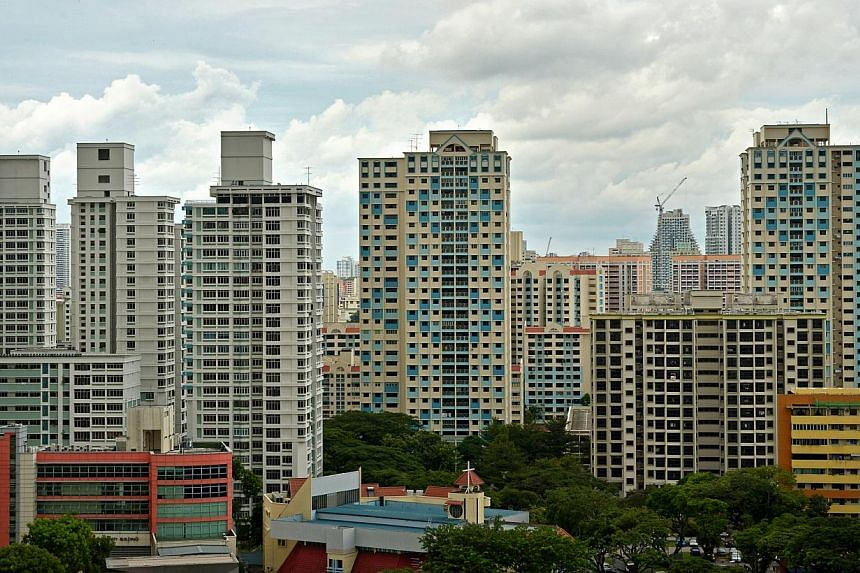 Housing Board resale prices edged up in April on the back of the highest transaction volume in two years, bucking the downward trend, according to SRX Property flash figures on Thursday. -- ST PHOTO: KUA CHEE SIONG