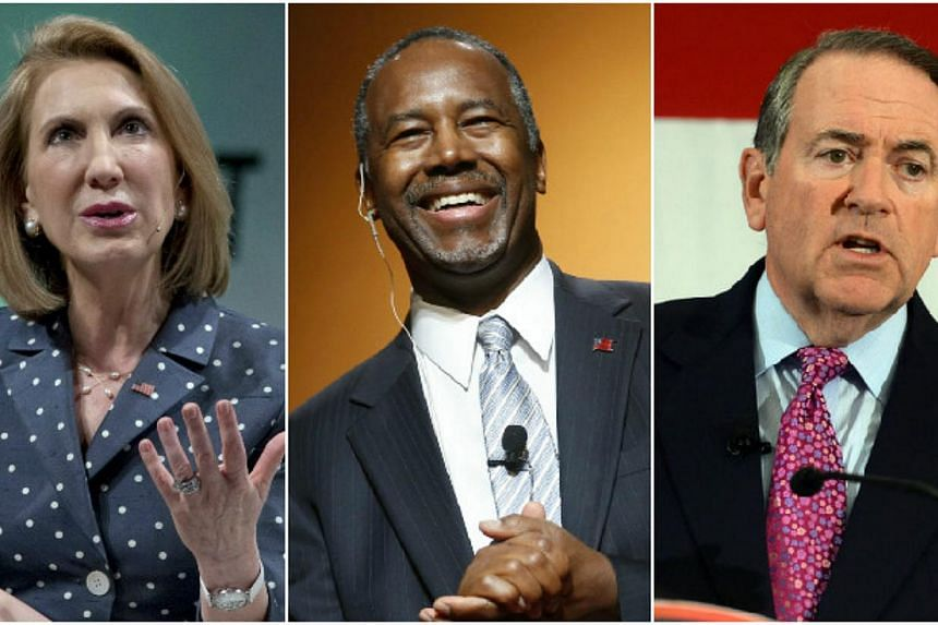 This week, the Republican field of White House hopefuls doubled from three to six, with former Hewlett-Packard (HP) CEO Carly Fiorina (left), retired neurosurgeon Ben Carson (centre) and former Arkansas governor Mike Huckabee throwing their hat into