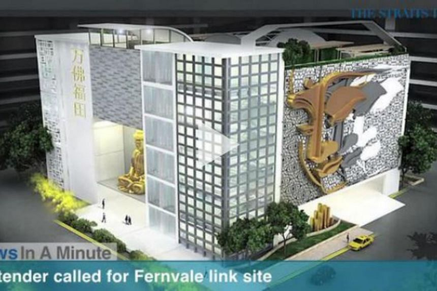The government has terminated the tender awarded to Eternal Pure Land for a Chinese temple and columbarium at Fernvale Link in Sengkang.