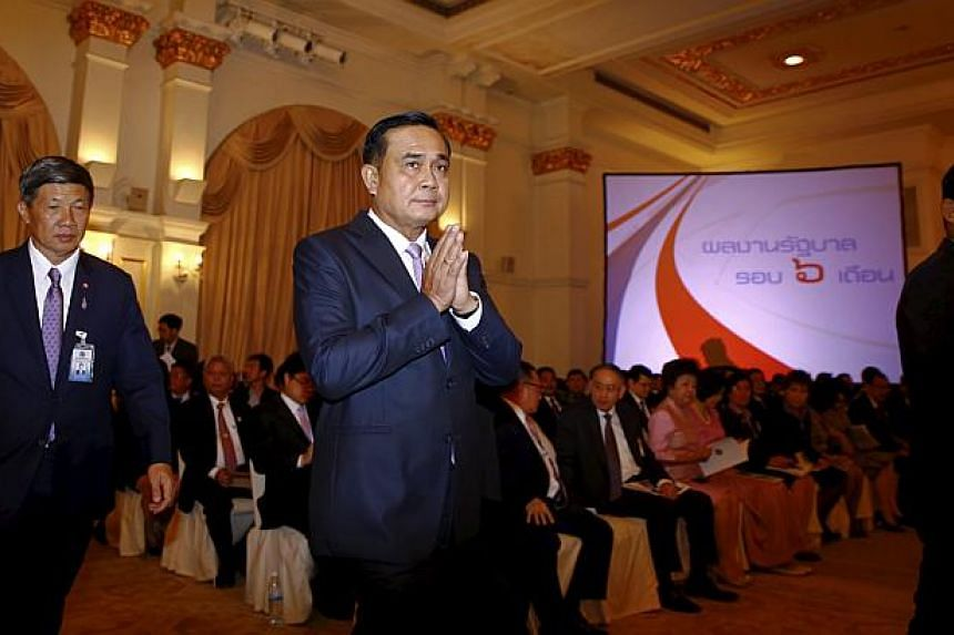 Thailand's Prime Minister Prayuth Chan-ocha on Friday called for a three-way meeting with neighbours Malaysia and Myanmar to try to resolve a regional human trafficking crisis following the discovery of a mass grave in the country's far south. -- PHO