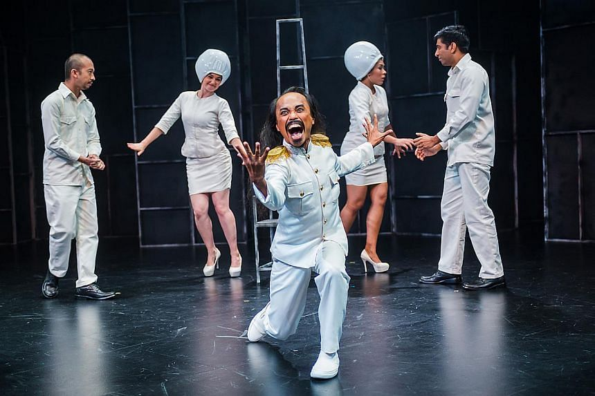 Cast of The Lady Of Soul And Her Ultimate 'S' Machine: (From left) Crispian Chan, Dominique De Marco, Gene Sha Rudyn, Shafiqhah Efandi, and Prem John. -- PHOTO: TUCKYS PHOTOGRAPHY