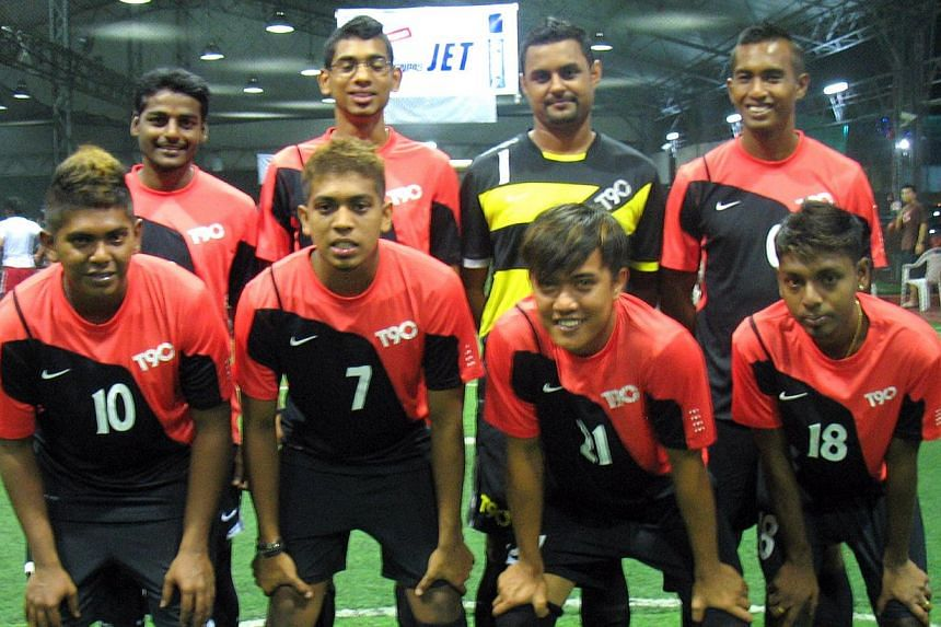 The Dorset Boys, led by captain Rooban Kanth (No. 7) on April 14, 2011. -- PHOTO: ST FILE