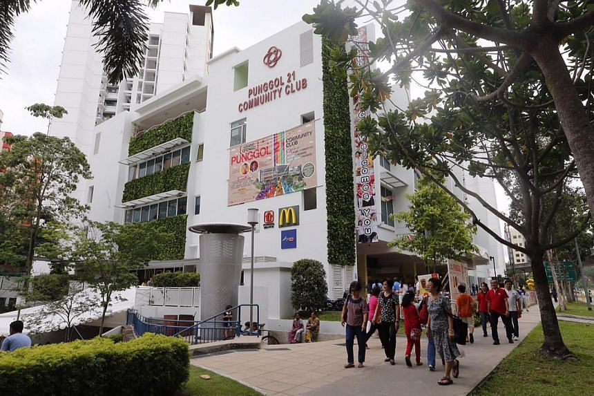 The Punggol 21 Community Club was opened by Prime Minister Lee Hsien Loong on Sunday night. The four-storey building features a Singpost branch, a Housing Board branch office, a McDonald's outlet and mural walls made up of tiles designed and drawn by