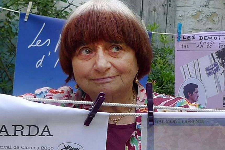 Agnes Varda in a picture from her Facebook page.French arthouse movie director Agnes Varda is to receive an honorary Palme d'Or at this year's Cannes film festival, the first female handed the coveted award, organisers said Saturday. -- PHOTO: