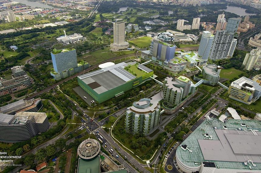 Artist's impression of Jurong Lake District by 2018. -- PHOTO: URBAN REDEVELOPMENT AUTHORITY