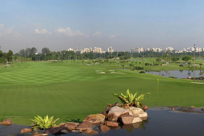 View of the golf course at Jurong Country Club. -- PHOTO: JURONG COUNTRY CLUB