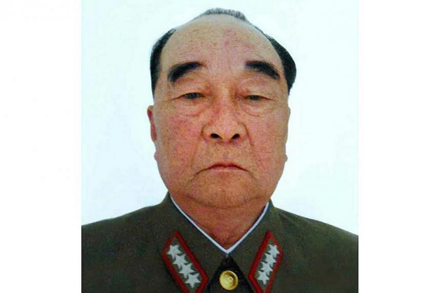 An undated file picture released by the Rodong Sinmun, the newspaper of the North Korean ruling Workers Party, on May 11, 2015, shows General Kim Kyok-sik, who died on May 10, 2015, of respiratory failure at the age of 77 after suffering from an unid