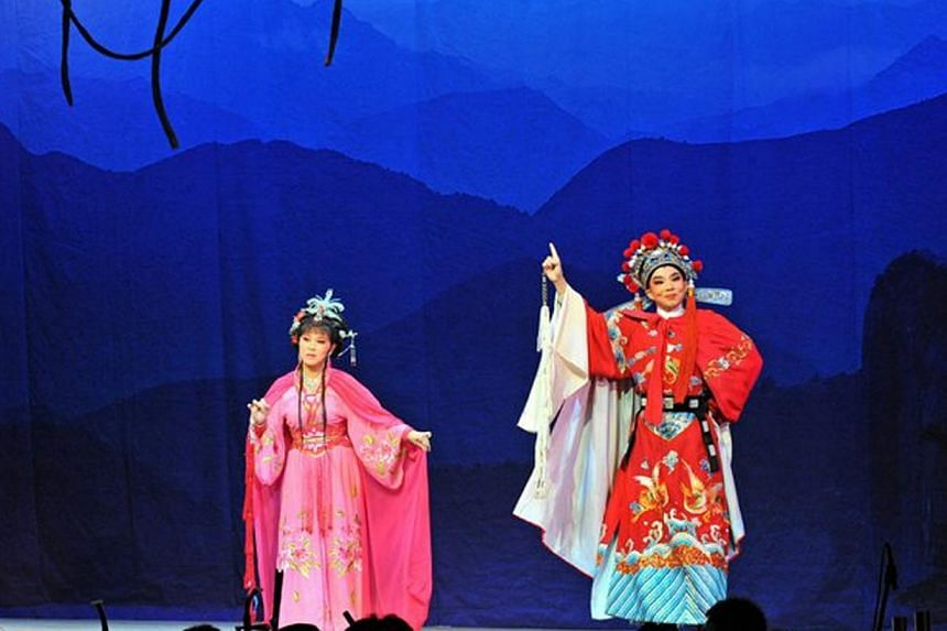 A performance by the Nam Hwa Amateur Musical and Dramatic Association, a Teochew opera troupe. Contemporising such art forms to enable them to capture younger audiences is critical to preserving their rich heritage. It could also help to forge new ti