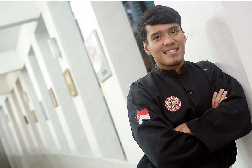 Singapore's silat gold medal hopeful Shakir Juanda was ruled out of the contact event of next month's SEA Games after failing to fully recover from a knee injury. -- PHOTO: BERITA HARIAN