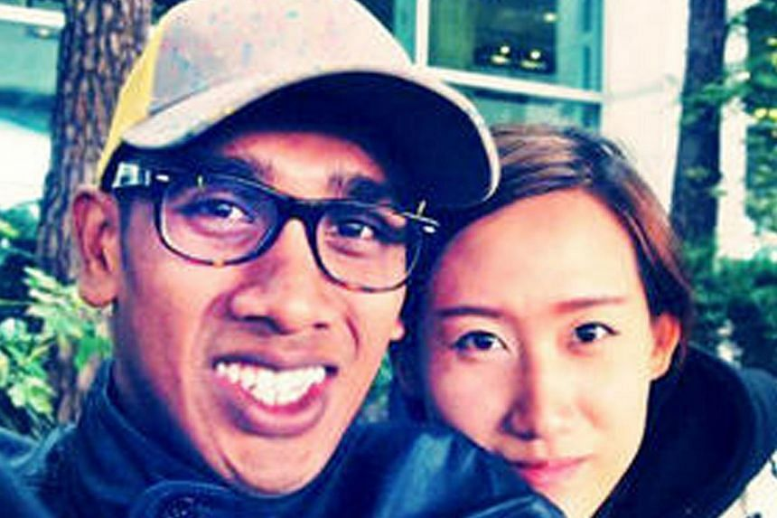 Trainee pilot Amron Ayoub, 23, and his South Korean girlfriend Song Jisoo were among those killed in the crash. -- PHOTO: FACEBOOK