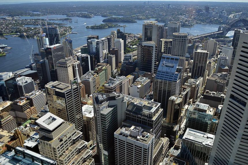 The Central Business District of Sydney from the Sydney Tower. Australia's debt, already rising faster than the euro zone's, will keep ballooning as Prime Minister Tony Abbott opts to support growth and his own political fortunes rather than balance