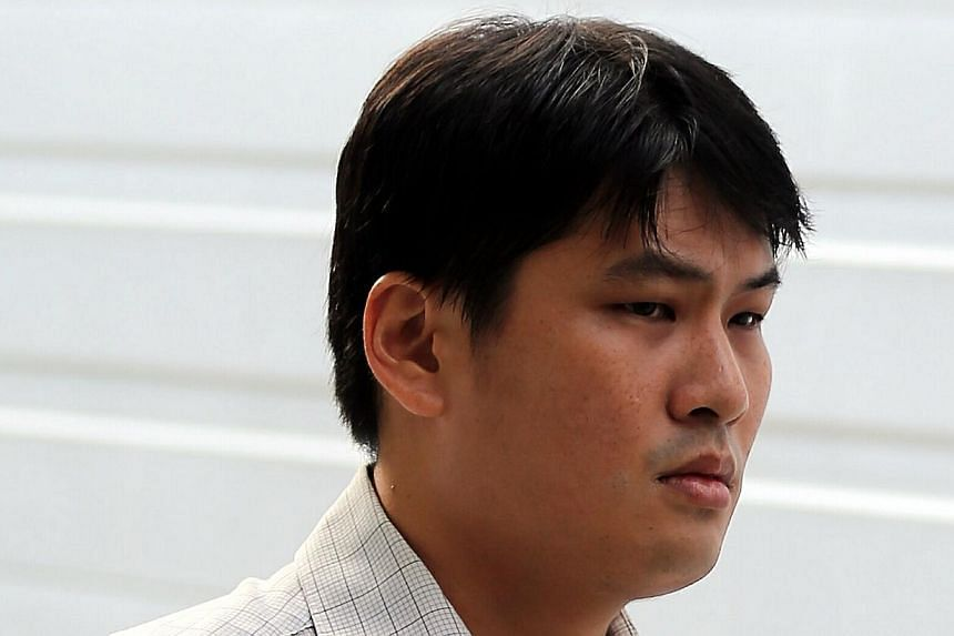 Accountant Willy Yeo, 31, who took upskirt videos of his colleague and other women, including a friend, was jailed for 14 weeks on Tuesday for insulting their modesty. -- ST PHOTO:WONG KWAI CHOW