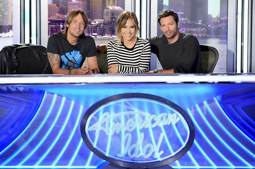 The current judges of American Idol (from left) Keith Urban, Jennifer Lopez and Harry Connick Jr.Fox Television announced on Monday that the venerable music reality show will be discontinued after its 15th season next year. -- PHOTO:STAR