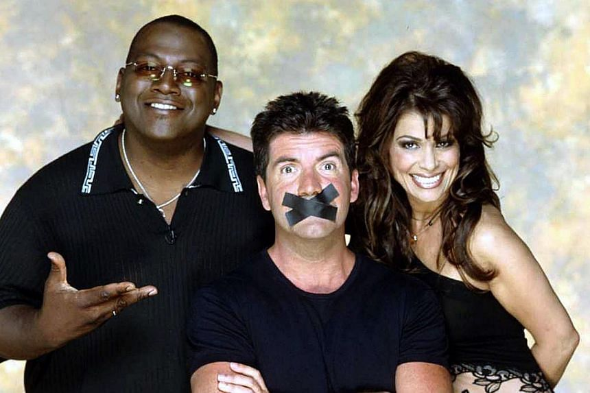 The original trio of American Idol judges from left to right RandyJackson, Simon Cowell and Paula Abdul as seen in the TV show's heyday. -- PHOTO: FREMANTLE MEDIA