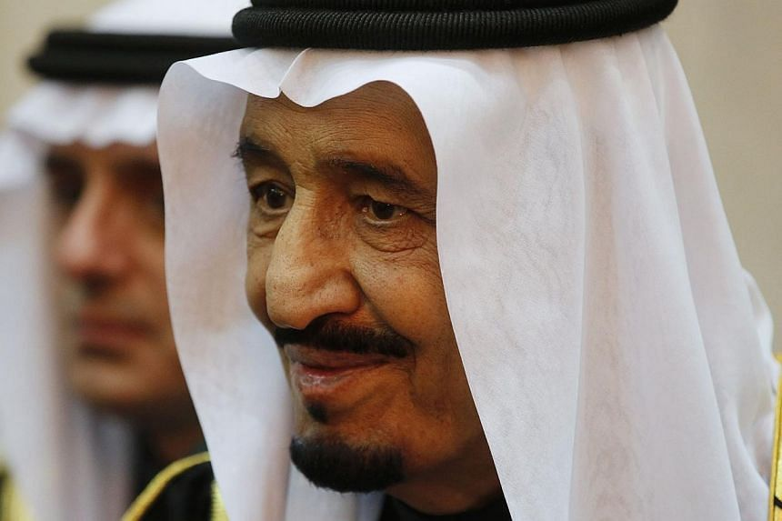 Saudi Arabia's King Salman is seen during US President Barack Obama's visit to Erga Palace in Riyadh, in this January 27 file photo. -- PHOTO: REUTERS