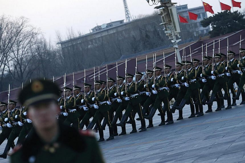 China is making the 70th anniversary of the Japanese surrender in World War II a public holiday, the government said Wednesday, as Beijing prepares a massive military parade to mark the occasion. -- PHOTO: REUTERS