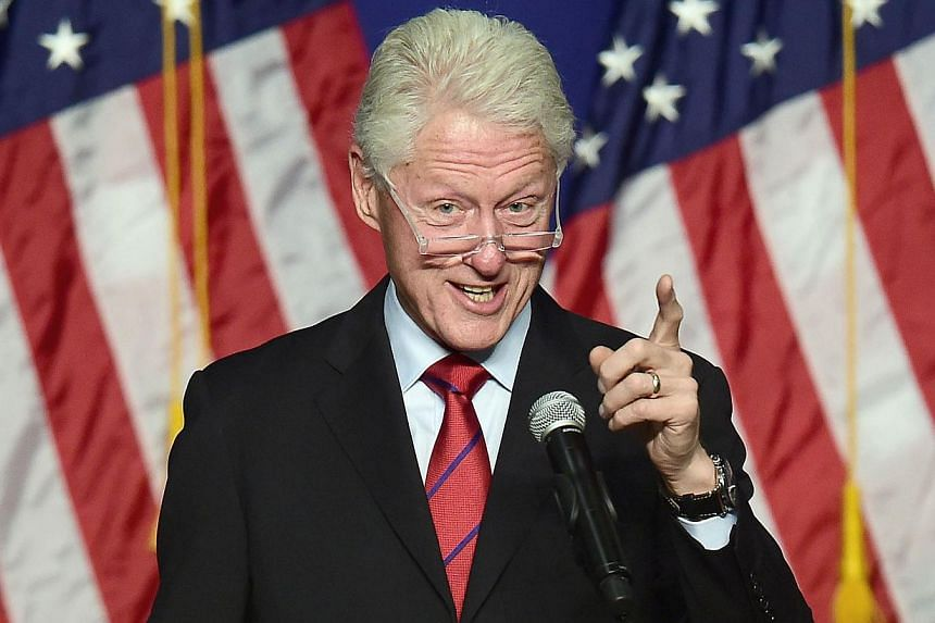 Former US President Bill Clinton in a 2014 photo. Mr Clinton said on Tuesday he will move back into the White House if his wife Hillary wins the presidency next year. -- PHOTO: AFP