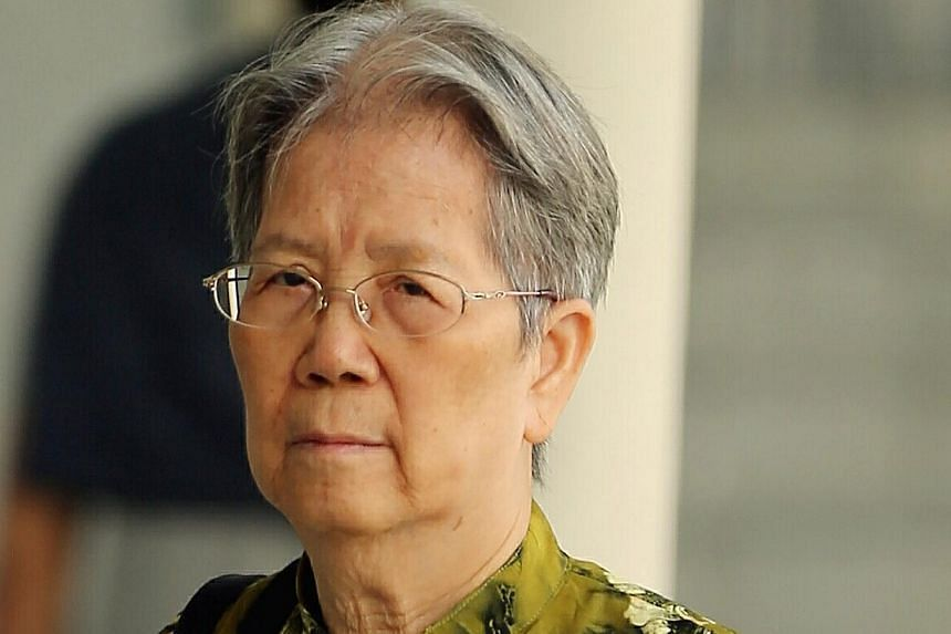 Lum Wai Lui, 73, a retired radiograph and medicine technician was convicted of two charges of maid abuse on Wednesday after a six-day trial. -- ST PHOTO: WONG KWAI CHOW