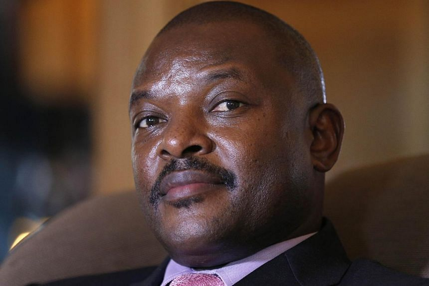 A top Burundian general on Wednesday announced the overthrow of President Pierre Nkurunziza (above), following weeks of violent protests against the president's bid to stand for a third term. -- PHOTO: AFP