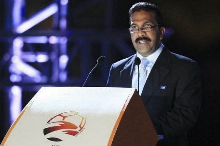 The Asian Football Confederation (AFC) suspended its general secretary Alex Soosay on Wednesday while it conducts an investigation into reports he asked for evidence to be removed prior to a probe of the regional body in 2012. -- PHOTO: THE STAR/ASIA
