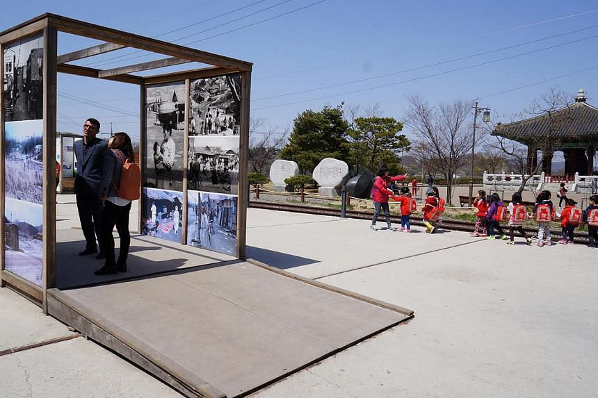 Visitors young and old at Imjingak Peace Park, which is located at the border city of Paju, about 7km from the Demilitarised Zone dividing the two Koreas. Built in 1972 with the hope of unification, it features photos of the Korean War and displays u