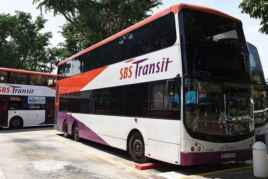 Five bus services will skip bus stops along Nicoll Highway on Sunday, May 17, from 2am to 9.15am due to road closure for the Tri-Factor Bike 2015, said SBS Transit. -- ST PHOTO: SEAH KWANG PENG