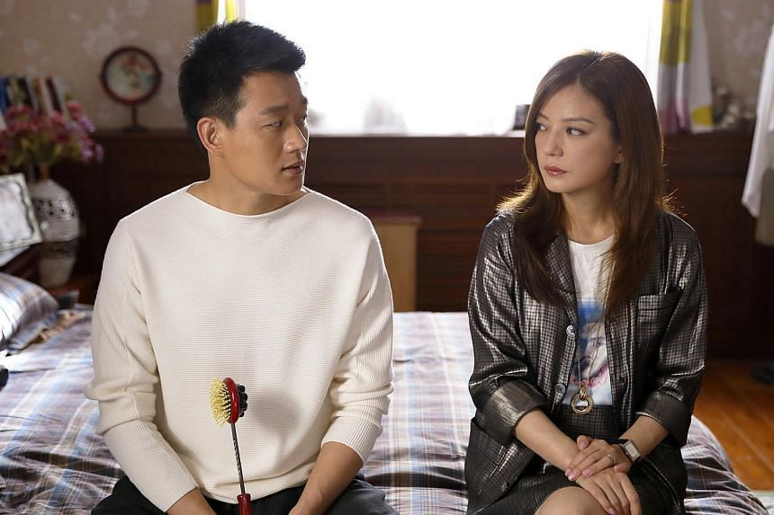 In Tiger Mom, Vicki Zhao Wei (above, with on-screen husband Tong Dawei) plays a career-minded woman who has to deal with a bratty daughter. -- PHOTO: STAR CHINESE CHANNEL