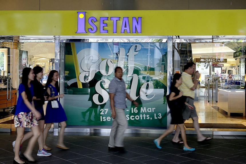 Isetan (Singapore) recorded a net loss of $2.3 million for the first quarter, reversing from net profit of $265,000 a year earlier. -- ST PHOTO:CHEW SENG KIM