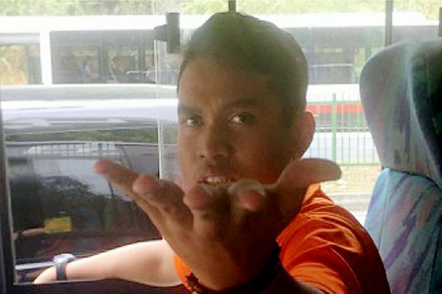 A Community Court heard that Muhammad Salahuddin Omar, who is deaf and cannot speak, was out on police bail when he committed the latest theft at Woodlands Industrial Park E8 on March 8. -- PHOTO: SHIN MIN DAILY NEWS