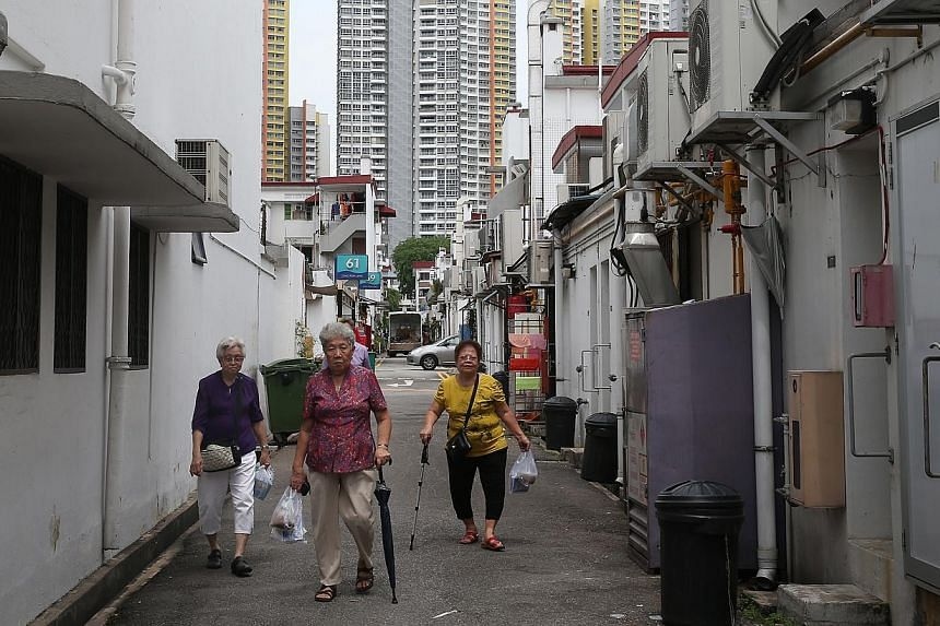 A back alley in Tiong Bahru. The Urban Redevelopment Authority is inviting the public to submit creative ideas for underused pockets of public space in Singapore. -- PHOTO: ST FILE