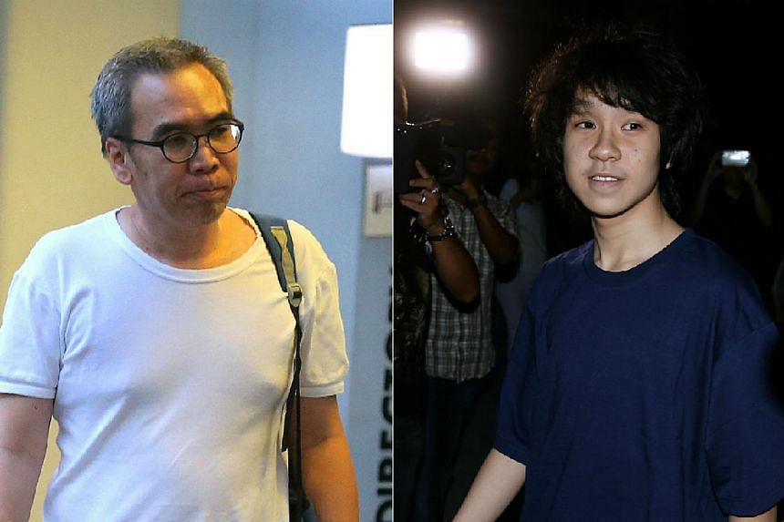 """Family and youth counsellor Vincent Law (left) is demanding an """"unreserved apology"""" from Amos Yee (right) after the teenage blogger claimed he had molested him. -- PHOTOS: THE NEW PAPER,WONG KWAI CHOW"""