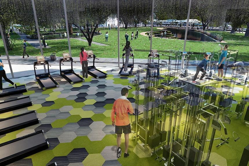 An artists' impression of theNew Fitness Centre. -- PHOTO: SMU