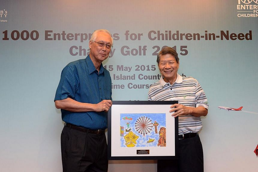 The Singapore Children's Society raised nearly $515,000 for its programmes and services through a charity golf tournament and auction on Friday night.  -- PHOTO: SINGAPORE CHILDREN'S SOCIETY