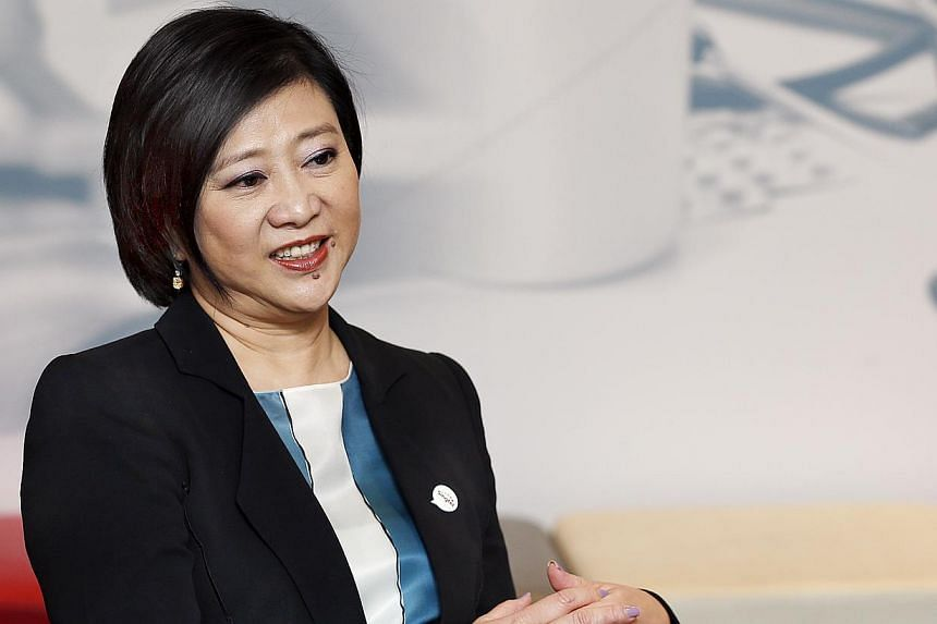 Ms Chua says Singtel wants to ensure engineers remain in the field. -- ST PHOTO: LAU FOOK KONG