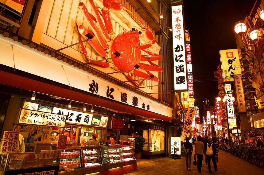 The Dotonbori area in Osaka, Japan. The people of Osaka vote this weekend on a plan to streamline Japan's second city in the mould of global metropolises like London, New York and Tokyo, as the one-time commercial capital seeks to recapture its glory