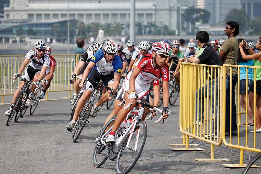 Cyclists at an OCBC Cycle event. -- PHOTO: OCBC BANK
