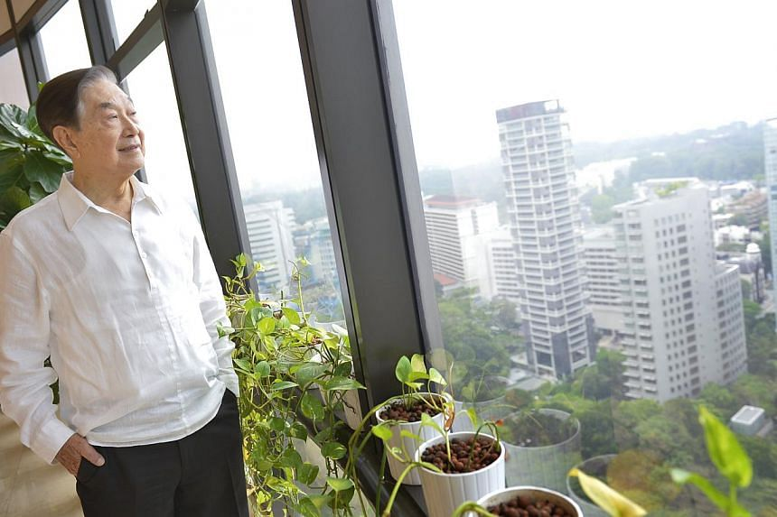 Mr Alan Choe, Singapore's first town planner. His story, along with those of 57 others, is chronicled in a book titled Living The Singapore Story: Celebrating Our 50 years 1965-2015. -- PHOTO: ST FILE