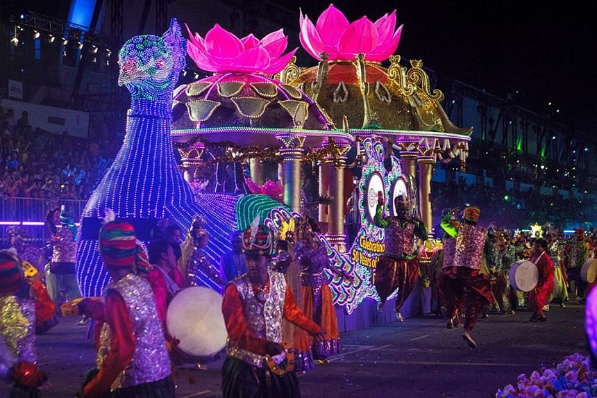 This spectacular Narpani peacock float beat 13 others to clinch the Most Popular Float award at the 2015 Chingay parade. Writer suggests that the Chingay festival is a good example of how contemporary cultural life could be Asianised.