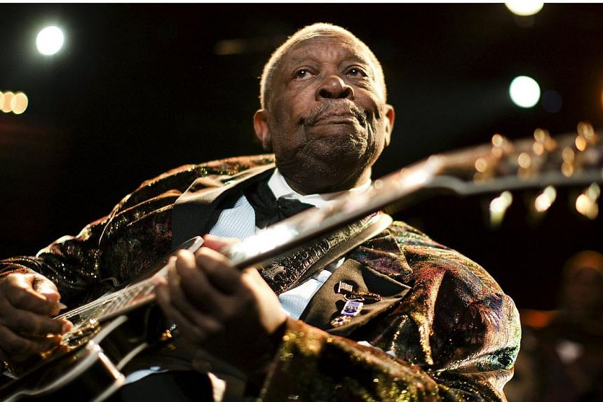"""U.S. blues legend B.B. King performs onstage during the 45th Montreux Jazz Festival in Montreux, in this file picture taken on July 2, 2011.Legendary guitarist and """"King of the Blues"""" B.B. King has died in Las Vegas, shortly after returning hom"""