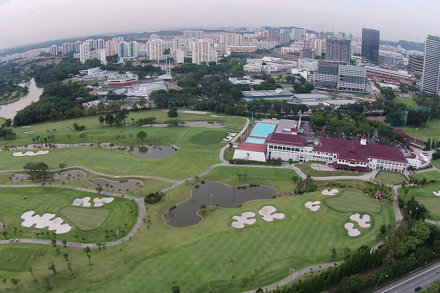 The Jurong Country Club site will be where the terminus of the Singapore-Kuala Lumpur high-speed rail (HSR) will be located. -- PHOTO: ST FILE