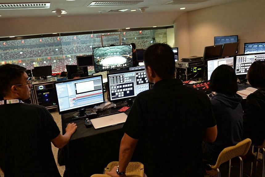 The room from which the multimedia involved in the SEA Games Opening Ceremony will be controlled. -- ST PHOTO: CAROLINE CHIA