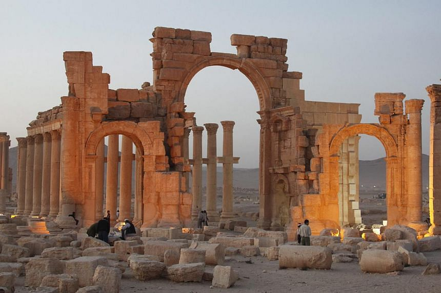 The ancient city of Palmyra in central Syria. -- PHOTO: EPA