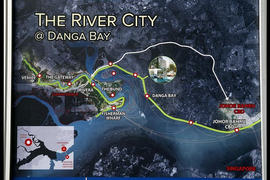 A river in Johor Baru will be cleaned up and revitalised in a RM2.5 billion ($928 million) project to turn it into a tourist destination with riverfront cafes, heritage shows and apartments. The River City @ Danga Bay project involves 6km of the 15-k